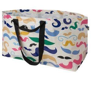 Ikea BÄNGLIG Shopping bag  Mustache bag